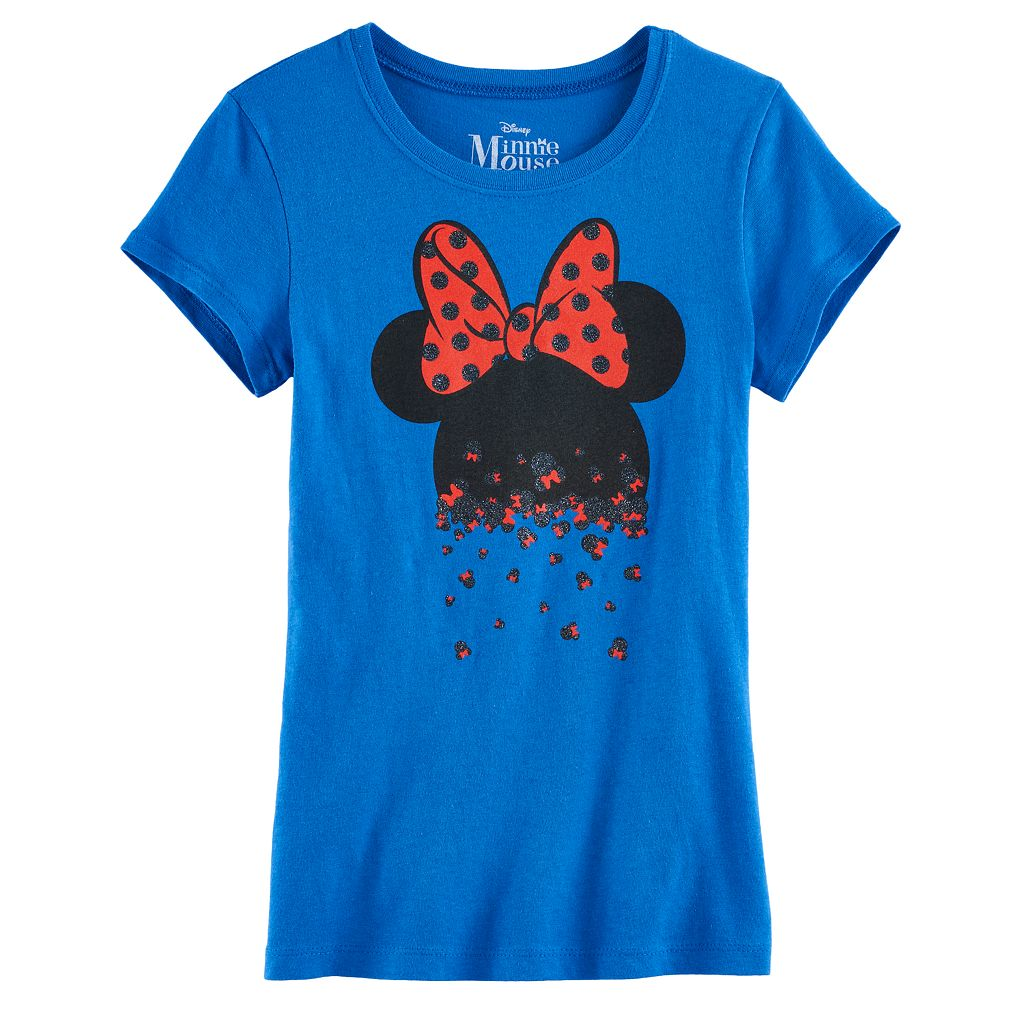 Disney's Minnie Mouse Girls 7-16 Glitter Mini Heads Graphic Tee