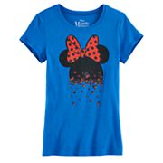 Disney's Minnie Mouse Girls 7-16 Glitter Mini Heads Graphic Tee