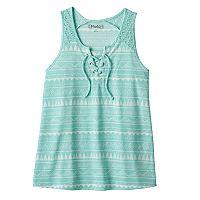 Girls Plus Size Mudd® Lace-Up Tank Top