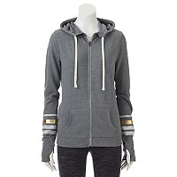 Juniors' SO® Perfectly Soft Striped Sleeve Hoodie