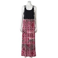 Juniors' Trixxi Strappy Back Maxi Dress