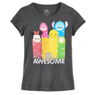 """Disney's Tsum Tsum """"Be Awesome"""" Girls 7-16 Graphic Tee"""