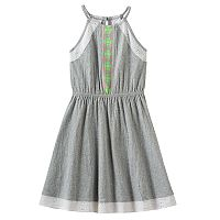 Girls 7-16 SO® Eyelet Crinkle Knit Dress