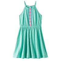 Girls Plus Size SO® Eyelet Crinkle Knit Dress