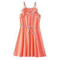 Girls 7-16 SO® Textured Ruffle Dress