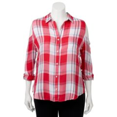 Juniors' Plus Size SO® Cold Shoulder Pleated Shirt