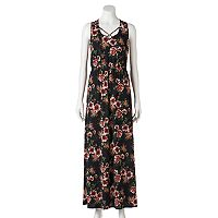 Juniors' Trixxi Floral Cross Front Maxi Dress