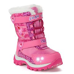 Peppa Pig Toddler Girls' Light Up Winter Boots