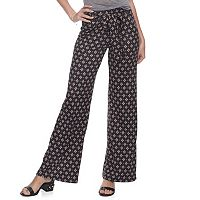 Juniors' Joe B Tie Front Wide-Leg Pants