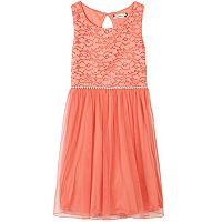 Girls 7-16 Speechless Glitter Lace Tulle Skirt Dress