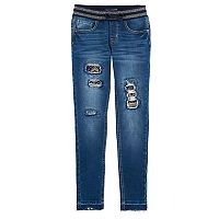 Girls 7-16 Vanilla Star Distressed Jeggings