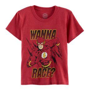 "Boys 4-7 DC Comics The Flash ""Wanna Race"" Graphic Tee"