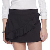 Juniors' Love, Fire Ruffle Mini Skirt