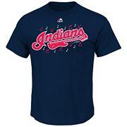 Men's Majestic Cleveland Indians Wordmark Tee