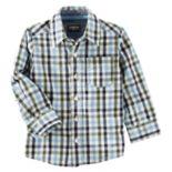 Toddler Boy OshKosh B'gosh® Checked Button-Down Shirt
