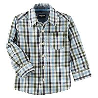 Toddler Boy OshKosh B'gosh® Checked Button-Down Shirt