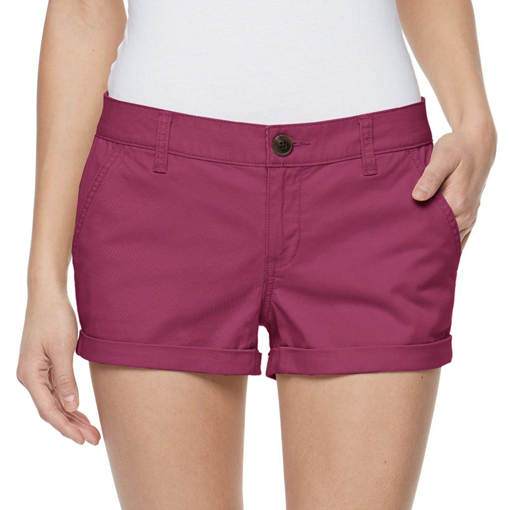Juniors' SO® Chino Shortie Shorts