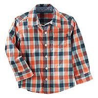 Toddler Boy OshKosh B'gosh® Button Down Plaid Shirt