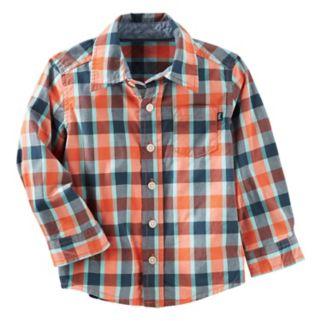 Toddler Boy OshKosh B'gosh® Button Down Plaid Shirt