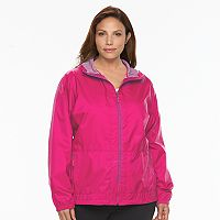 Plus Size Columbia Rain to Fame Hooded Rain Jacket