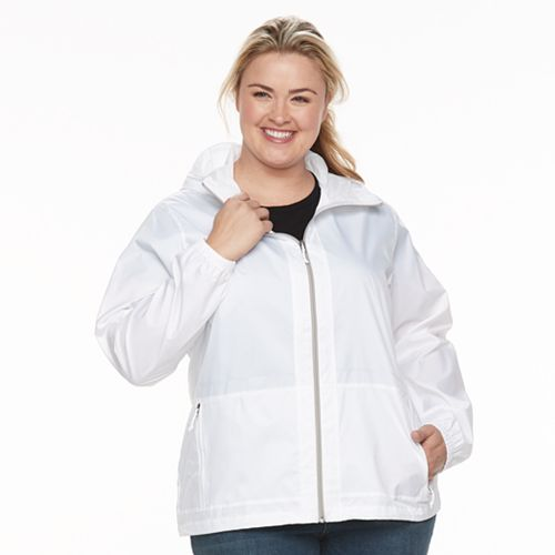 Plus Size Columbia Rain to Fame Hooded Rain Jacket