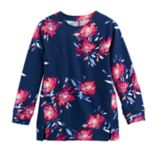 Girls 4-12 SONOMA Goods for Life™ Floral Long-Sleeve Raglan Tunic