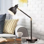 Catalina Lighting Tensor Lennon Charging Station Table Lamp