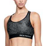 Under Armour Mid Keyhole Printed Medium-Impact Sports Bra 1307197