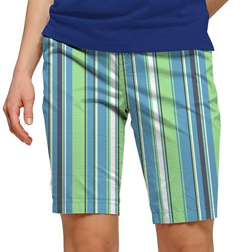 Women's Loudmouth Striped Bermuda Golf Shorts
