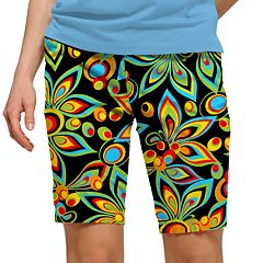 Women's Loudmouth Bright Print Bermuda Golf Shorts