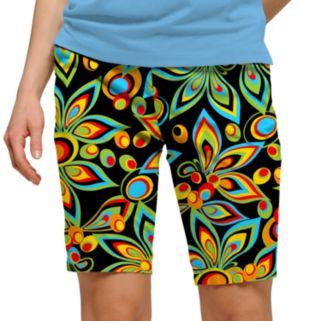 Women's Loudmouth Bright Print Bermuda Golf Shorts