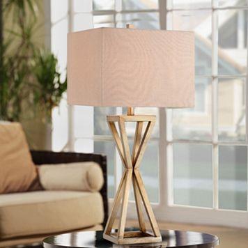 Catalina Lighting Gold Finish Geometric Table Lamp