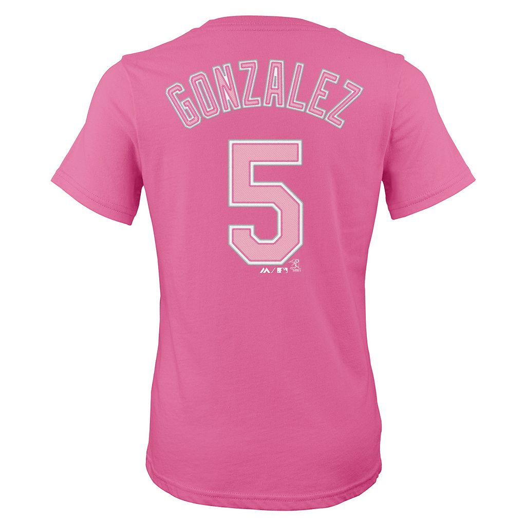 Girls 7-16 Majestic Colorado Rockies Carlos Gonzalez Player Name and Number Tee