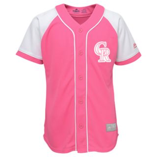 Girls 7-16 Majestic Colorado Rockies Fashion Jersey