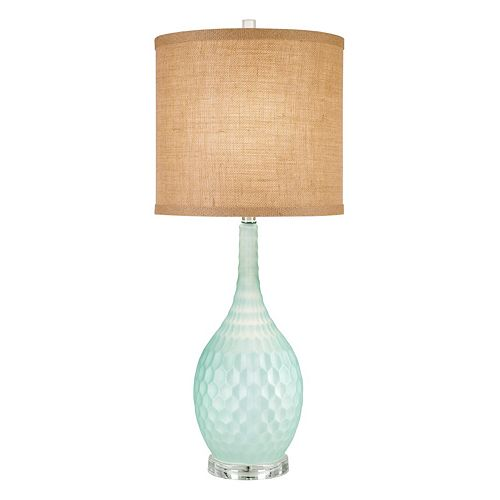 Catalina Lighting Textured Gourd Glass Table Lamp