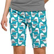 Women's Loudmouth Bird Print Bermuda Golf Shorts