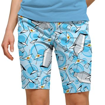Women's Loudmouth Martini Print Bermuda Golf Shorts