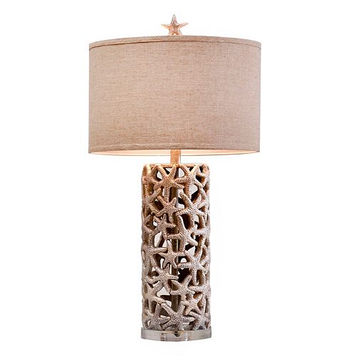 Catalina Lighting Artificial Starfish Table Lamp