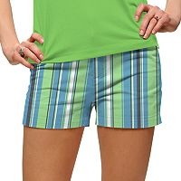 Women's Loudmouth Striped Mini Golf Shorts