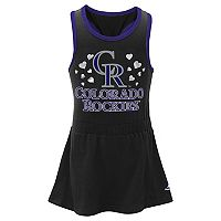 Toddler Girl Majestic Colorado Rockies Criss-Cross Tank Dress