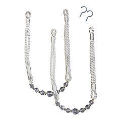 Bali Crystal Rope 2-pack Curtain Tiebacks