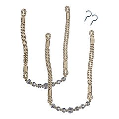 Bali Crystal Rope 2-pack Curtain Tiebacks