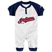 Baby Majestic Cleveland Indians Game Time Coverall
