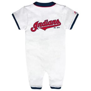 Baby Majestic Cleveland Indians Outfield Coverall