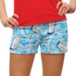 Women's Loudmouth Martini Print Mini Golf Shorts