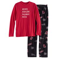 Boys 4-20 Jammies For Your Families Movie Night Top & Fleece Bottoms Pajama Set