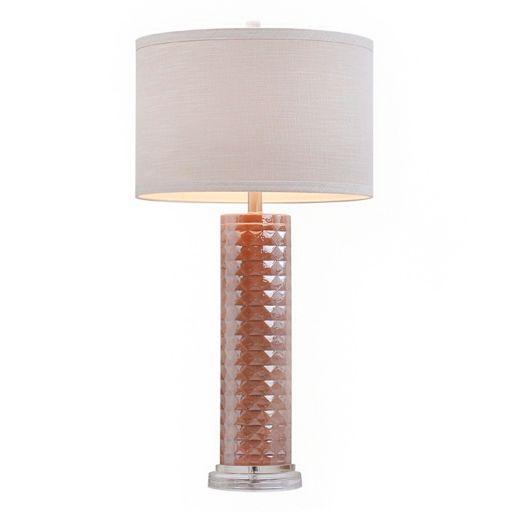 Catalina Lighting Iridescent Glass Table Lamp