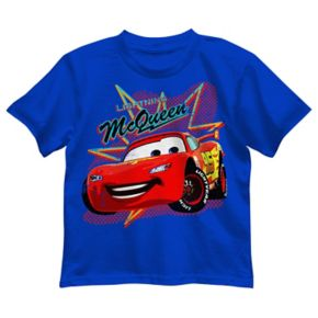 "Disney / Pixar Cars Boys 4-7 ""Lightning McQueen"" Car Show Graphic Tee"