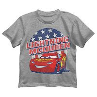 Disney / Pixar Cars Boys 4-7 Lightning McQueen Patriotic Graphic Tee
