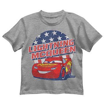 Disney / Pixar Cars Boys 4-7 Lightning McQueen Patriotic Graphic Tee